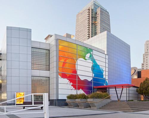 Quang cảnh địa điểm ra mắt iPad 3 trước 'giờ G'