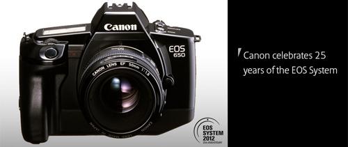 Canon kỉ niệm 25 năm ra mắt dòng EOS