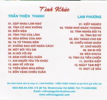 Album Hoà Tấu Tình Khúc Lam Phương – Vô Thường