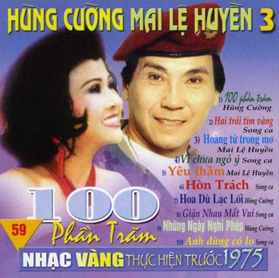 Album 100 Phần Trăm (Pre 1975) – Hùng Cường & Mai Lệ Huyền