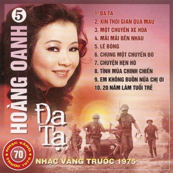 Album Đa Tạ – Hoàng Oanh (Pre 1975)