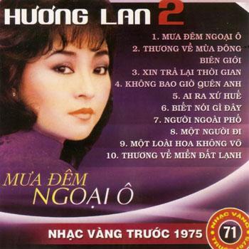 Album Mưa Đêm Ngoại Ô – Hương Lan (Pre 1975)