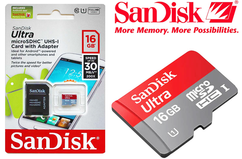 Sandisk Ultra Micro SD UHS-1 16Gb Class 10-800x800