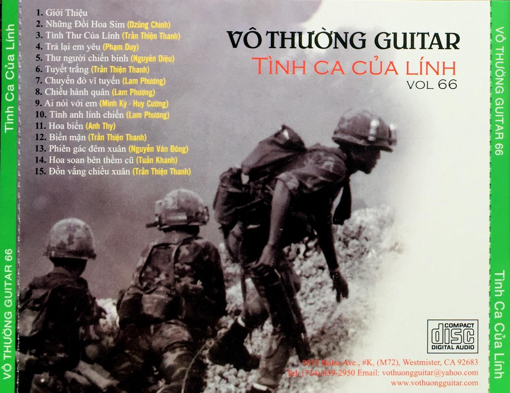 CD Tình Ca Của Lính – Vô Thường