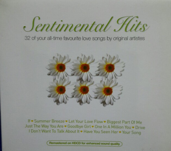 CD Sentimental  Hits  ( 2 cds,  32 old  sentimental  hits)